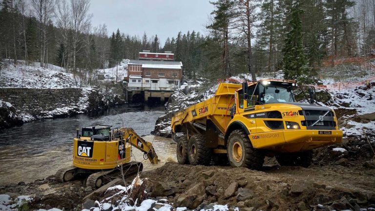 Dalfos kraftverk - Steintransport AS
